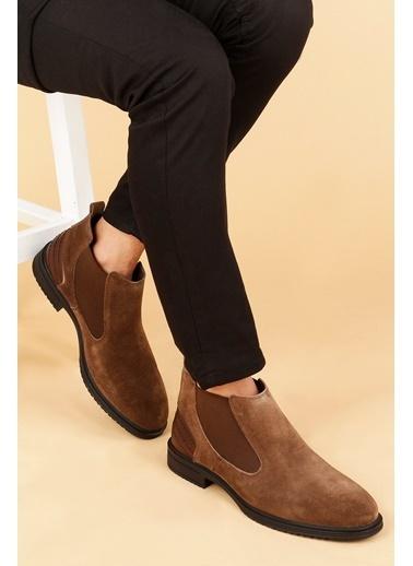 Ayakland Ayakland Hrz 099 Nubuk Deri Kauçuk Taban Erkek Bot Ayakkabı Kahve
